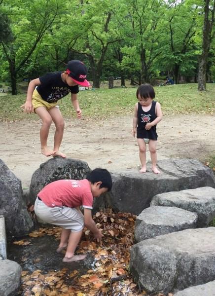 運動公園で水遊び.jpg